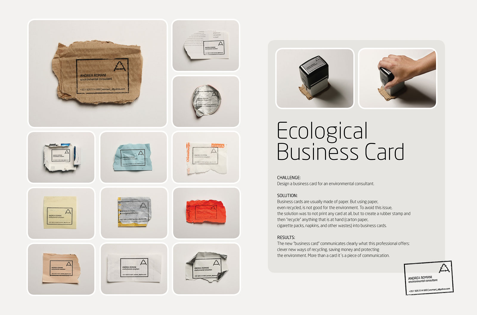 Ecological business cards the inspiration room ecological business cards colourmoves Images