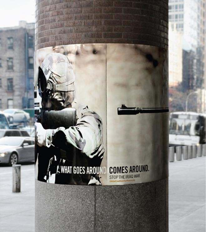 What Goes Around Comes Around poster for Global Coalition for Peace