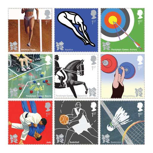 2012 Olympics First Class stamps