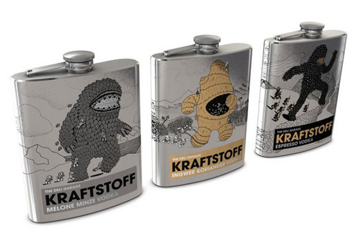 Kraftstoff Vodka flask design