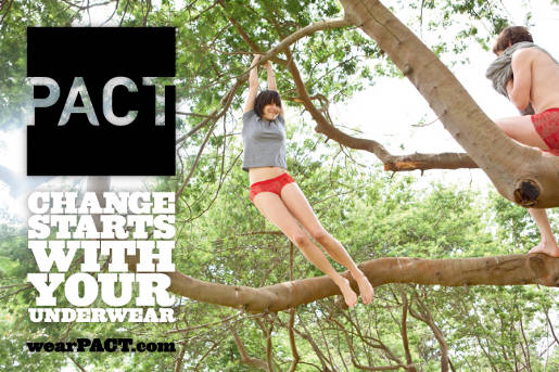 Pact Change Starts With Your Underwear Tree advertisement