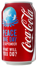 Peace Day Coke Can