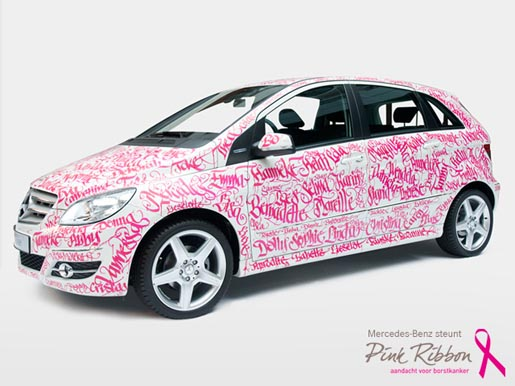 Mercedes Benz Pink Ribbon car