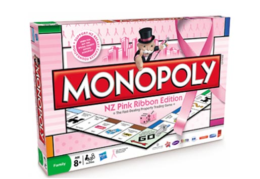 Monopoly Pink Ribbon Edition in NZ