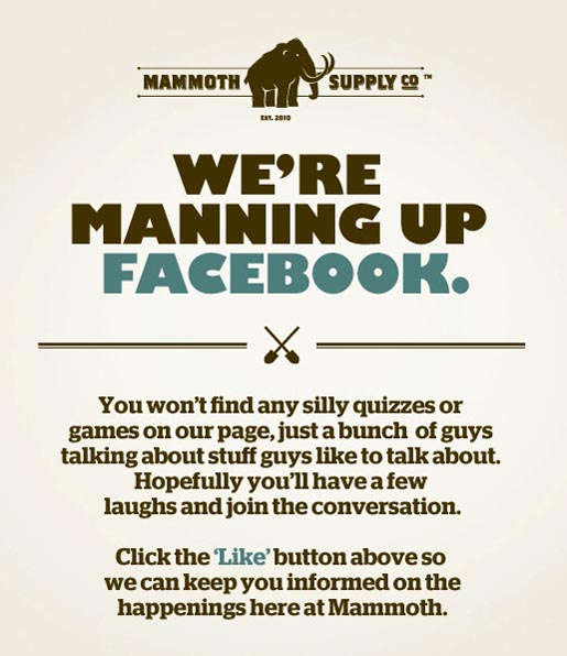 Mammoth Supply Manning Up Facebook