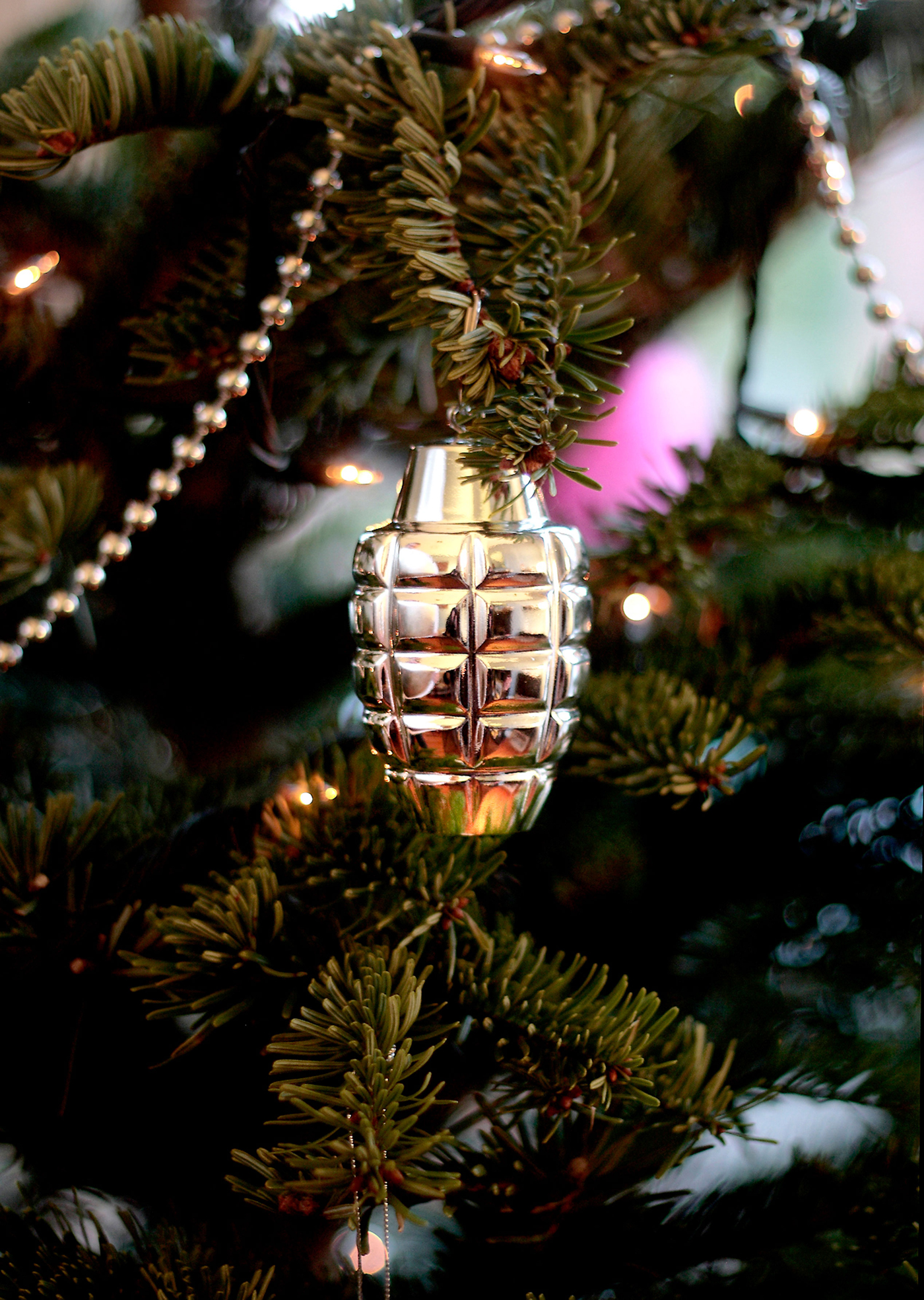 hand grenade christmas ornaments the inspiration room. Black Bedroom Furniture Sets. Home Design Ideas