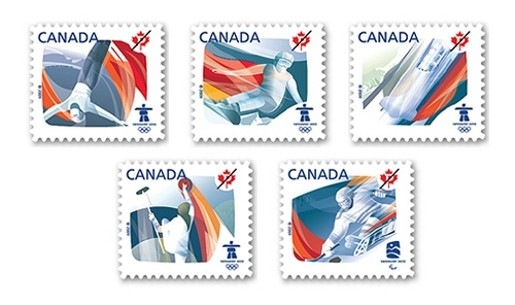 Canada Post Winter Olympics stamps