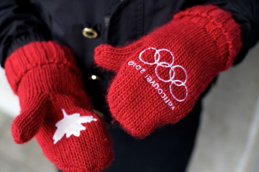 Red Mittens Hands