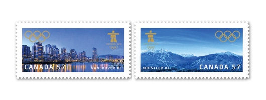 Canada Post Winter Olympics Venues stamp