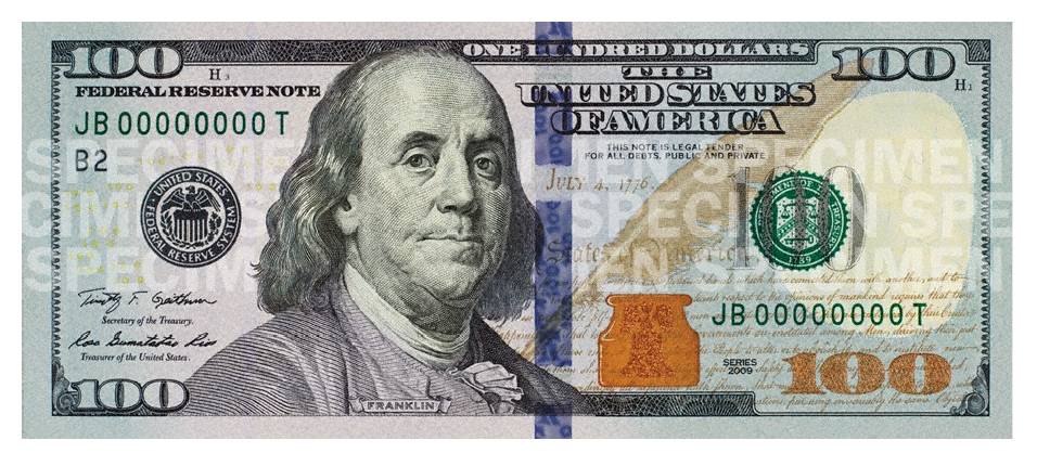 new hundred dollar bill for united states the inspiration room