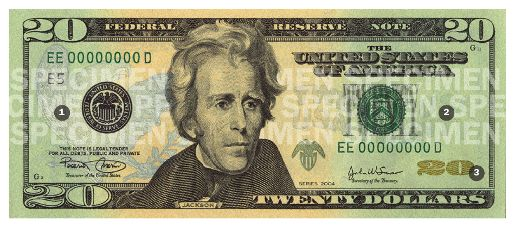 New Twenty Dollar Bill Front