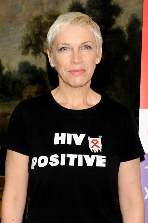 Annie Lennox in HIV Positive T-Shirt
