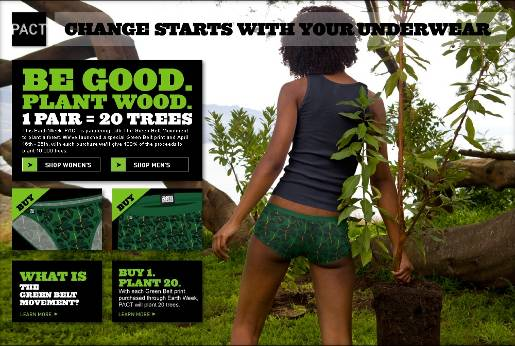 Pact Change Starts with your Underwear Earth Week Green Belt range