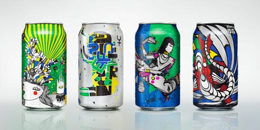 Sprite Graffiti Cans