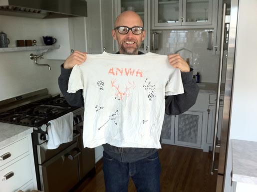 Moby with Signed Find shirt