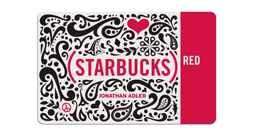 Starbucks Red Card - Jonathan Adler design