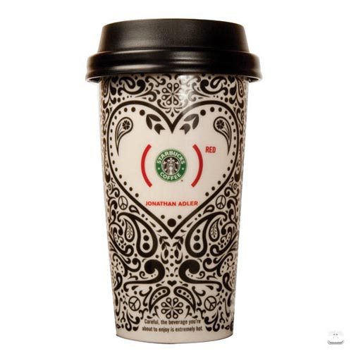 Starbucks Red Mug - Jonathan Adler design