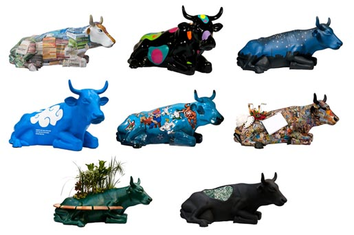 Mu Mu Cow Parade cows in Porto Alegre