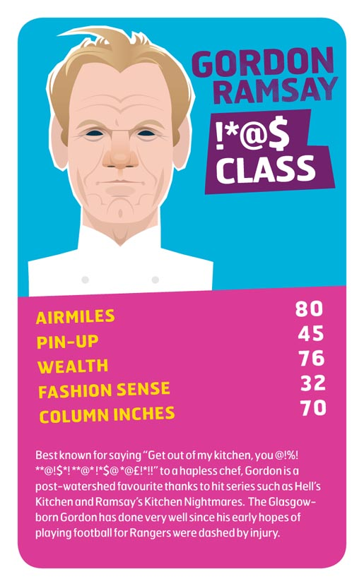 Monarch Gordon Ramsay Top Trumps card