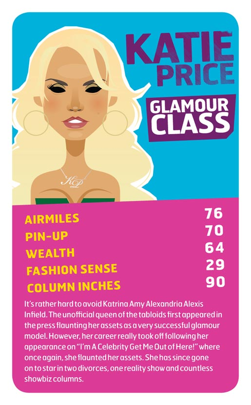 Monarch Katie Price Top Trumps card