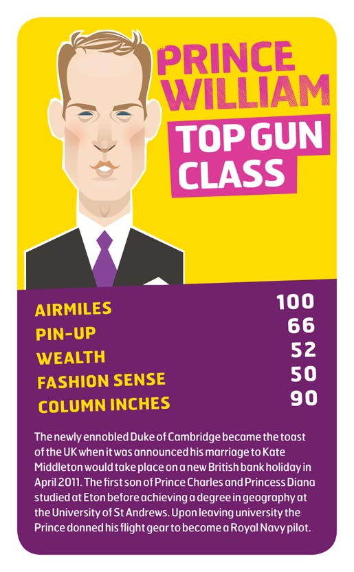 Monarch Prince William Top Trumps card