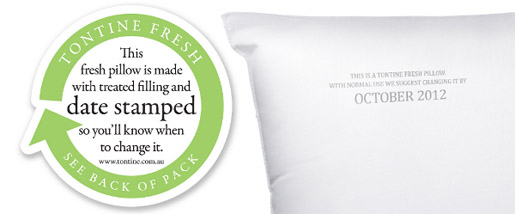 Tontine Fresh Pillows with Date Stamp