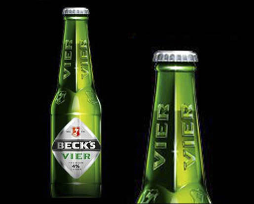 Becks Vier Square Necked Bottle