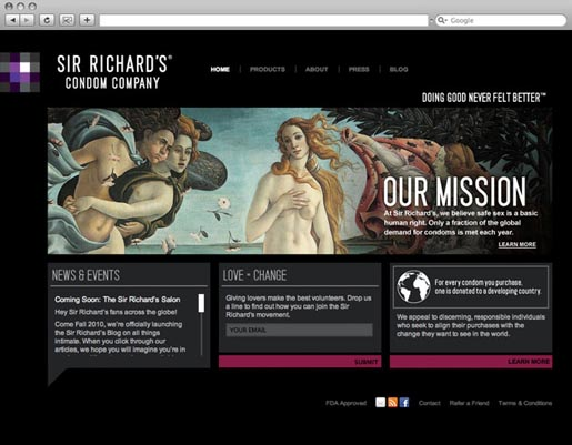 Sir Richards Website