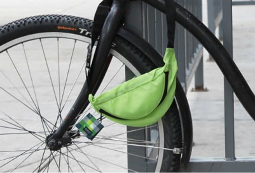 Sir Richards Fanny Pack on Bike Wheel