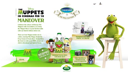 Cravendale Muppets Makeover site