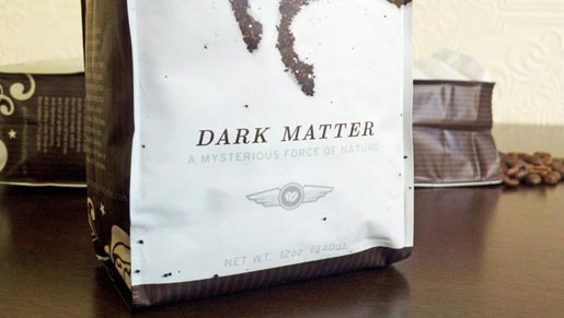 Dark Matter Coffee Packaging