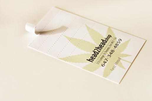 Head2Head Smokeable Business Card