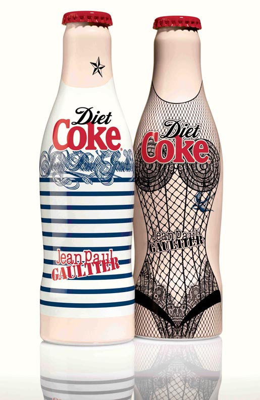Diet Coke Jean Paul Gaultier bottles