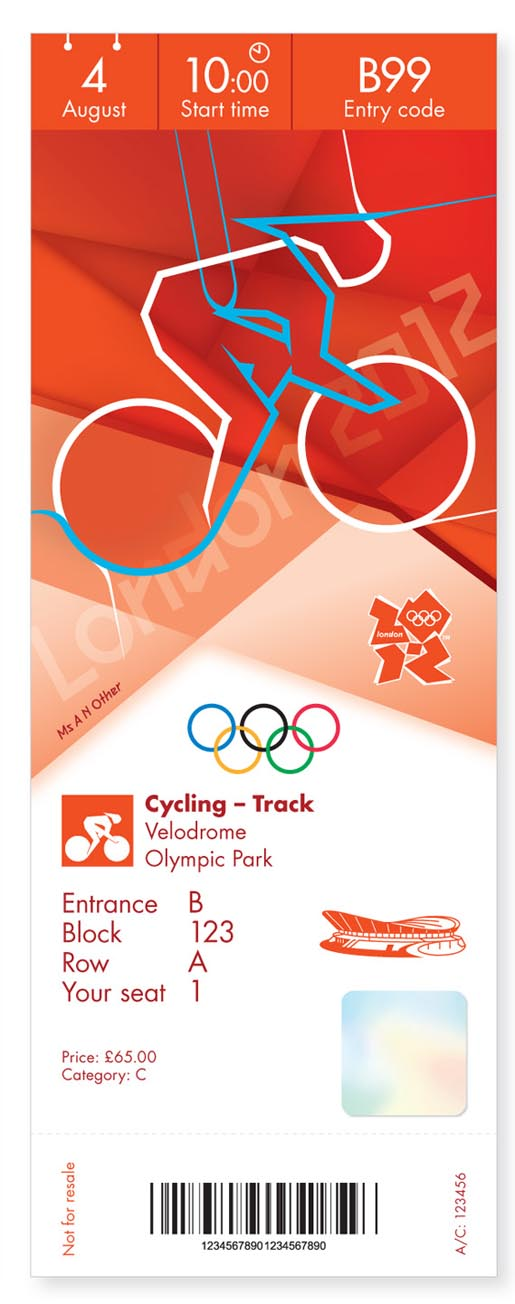 London 2012 Olympics Cycling Ticket