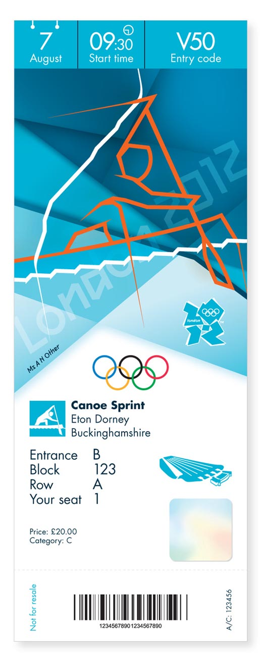 London 2012 Olympics Kayaking Ticket