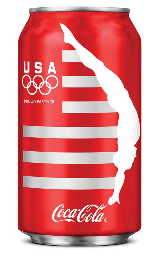 Coca Cola London Olympics Diver can