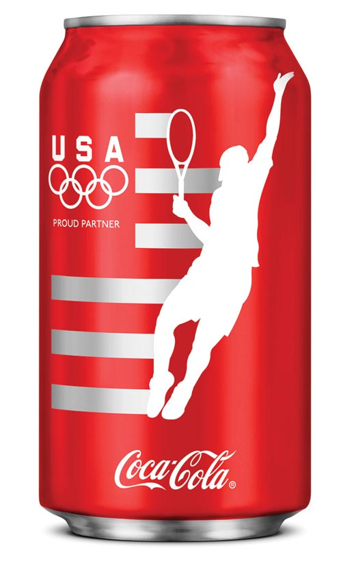 Coca Cola London Olympics Tennis can