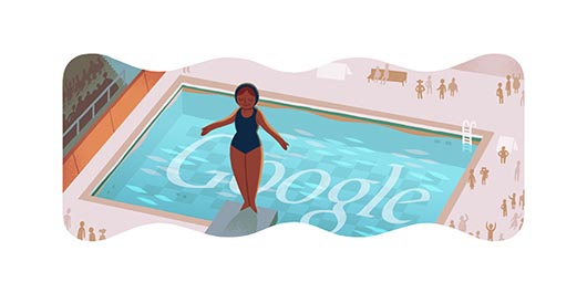Google Olympics Diving Doodle