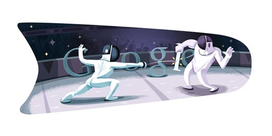 Google Olympics Fencing Doodle