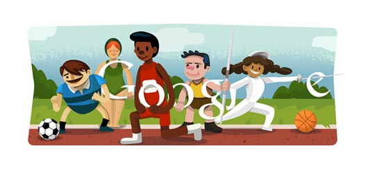 Google Olympics Opening Ceremony Doodle