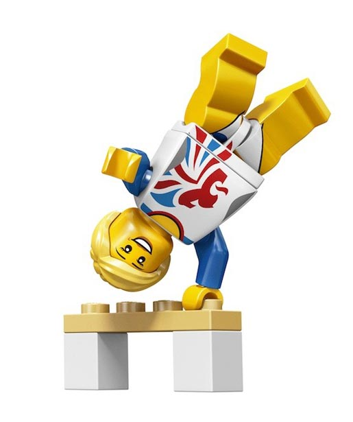 Lego Olympics Flexible Gymnast Minifigure