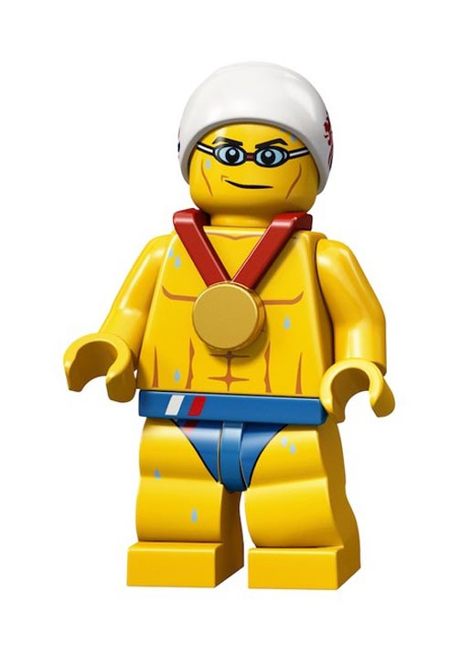 Lego Olympics Stealth Swimmer Minifigure