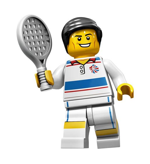 Lego Olympics Tactical Tennis Player Minifigure