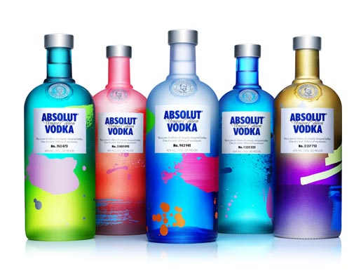 Absolut Unique Bottles
