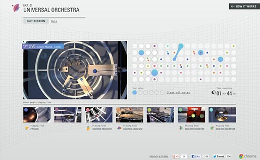 Chrome Web Lab Universal Orchestra