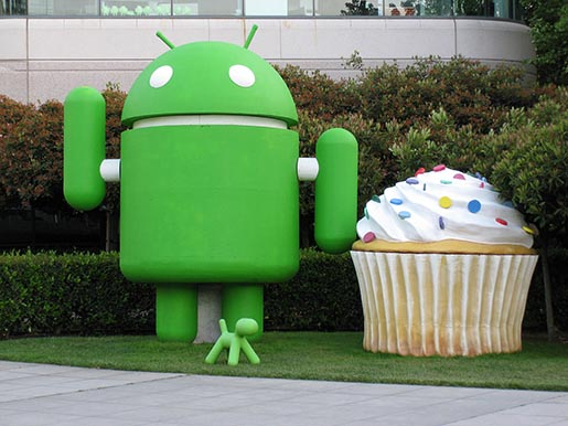 Android Cupcake on Google campus