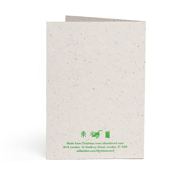 W+K London Recycled Christmas Cards