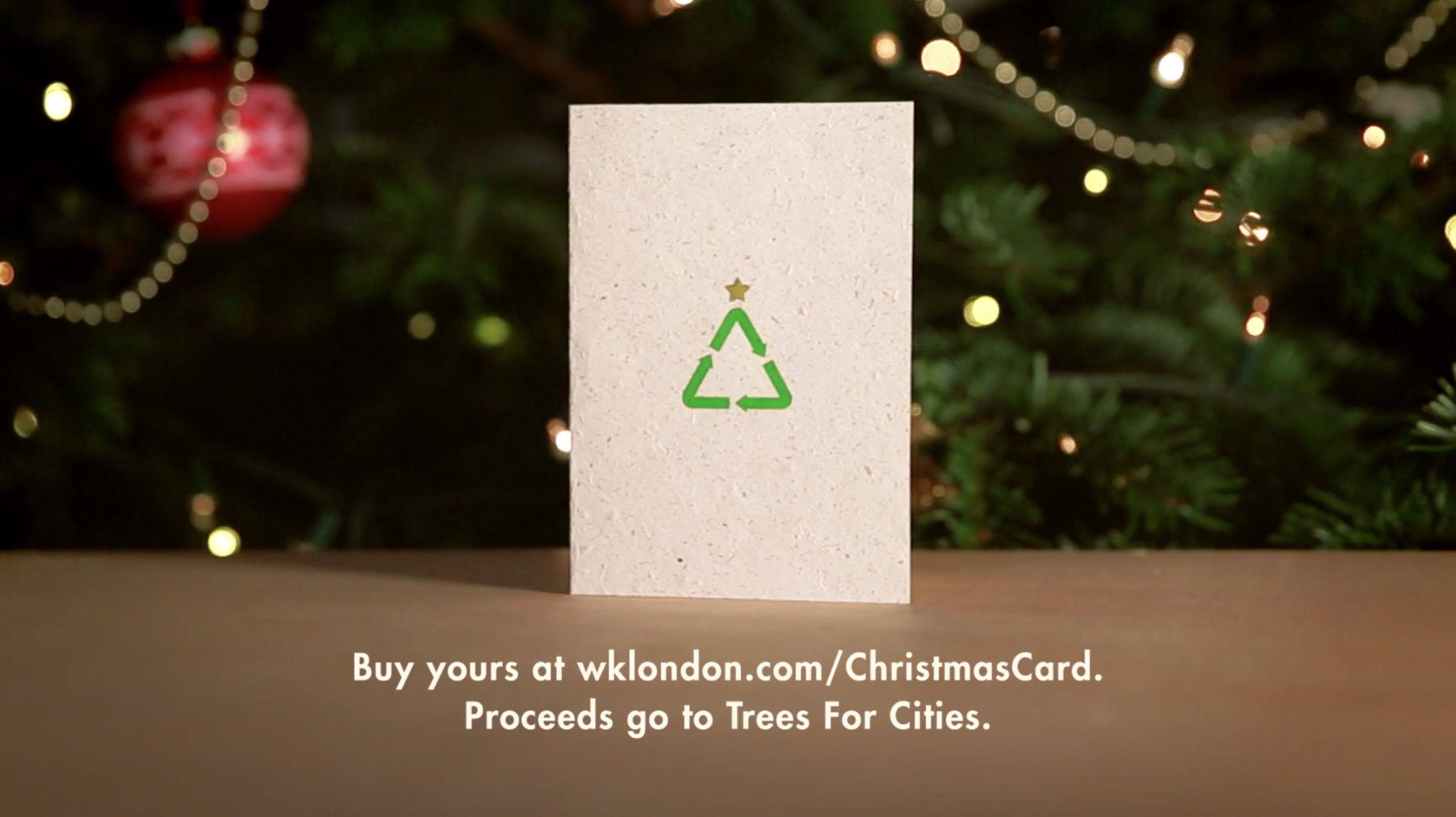 W+K Christmas Card from Recycled Trees - The Inspiration Room