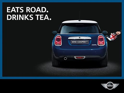 Mini Cooper T Eats Road Drinks Tea