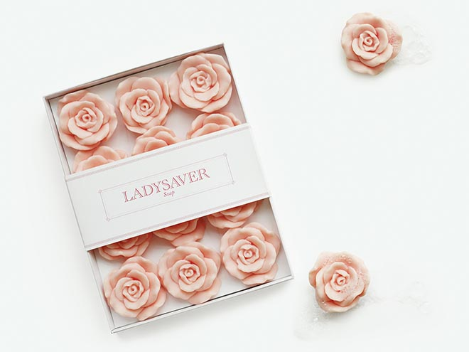 Ladysaver Soap packaged